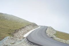 Road to the Sky. Mountain road in the Alps Stock Images