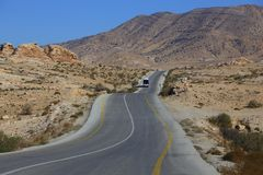 The road to small Petra stock photos