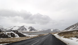 The road to  snaefellsne on the island iceland Royalty Free Stock Photo