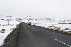 The road to  snaefellsne on the island iceland Stock Photography
