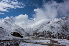 Road to snow mountain. The road to the snow mountain in Leh Ladakh Royalty Free Stock Images