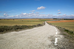 Road to soria. In spain Royalty Free Stock Photography