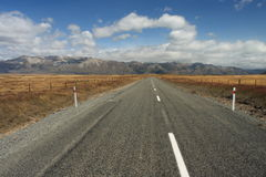 Road to Southern Alps Royalty Free Stock Image