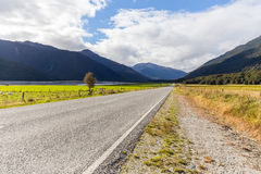 Road to southern alps, New Zealand Stock Photo