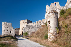 Road to Spis castle, Slovakia. Road leading to Spis castle in eastern Slovakia stock images