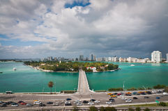 Road to Star Island in Miami Stock Photos