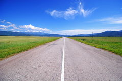 Road to the steppes Uimon stock photography