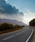 Road to the storm in autumn Royalty Free Stock Image