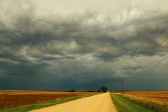 Road to the storm Royalty Free Stock Photos
