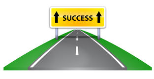 Road to success. The road leading to success Royalty Free Stock Photos