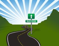 Road to success. Illustration of road to success. Vector file available Stock Images