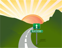 Road to success. Illustration of road to success. Vector file available Stock Photos