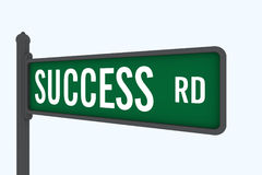 Road to success. A fictional road-sign with a fictional street name Royalty Free Stock Photography