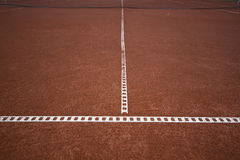 Road to success. Photo of tennis lines meant to explain how narrow is the road to success. Also metaphor for succesful teamwork/connection Stock Photography