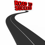 Road to success. Road leading to success as a 3d render, success and winning concept, career and individual achievement Royalty Free Stock Images