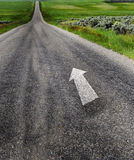 Road to Success. With painted double yellow lines Royalty Free Stock Photography