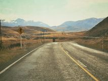 Road to success. Road in New Zealand Stock Photography
