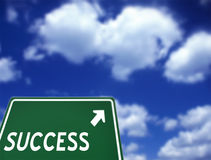 Road to Success. Road sign showing the way to success Stock Image