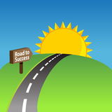 Road To Success Background Royalty Free Stock Images