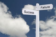 Road to success blue sky royalty free stock photo