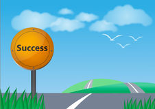 Road to success. Bule sky Stock Images