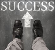 Road to success stock photography