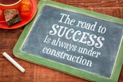 The road to success concept on blackboard Royalty Free Stock Photography
