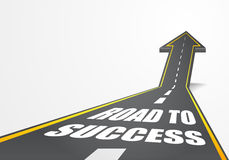 Road to Success. Detailed illustration of a highway road going up as an arrow with Road to Success text Royalty Free Stock Photography