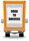Road to success. Following the road to success Royalty Free Stock Images