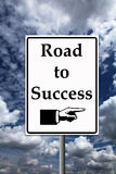 Road to success. Following the promising road to success Royalty Free Stock Images
