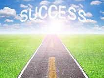 The road to success in the future. The motivation road to goal success in the future Royalty Free Stock Images