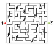 Road to success. Going through an intricate maze Stock Photography