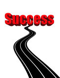 Road to success. Illustration concept for the road to success Royalty Free Stock Photo