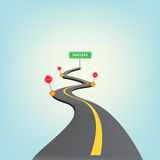 Road to success. Illustration, vector Stock Images