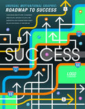 The road to success is mapped out. In this colorful graphic Stock Photos