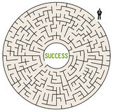 Road to success. Taking the difficult road to success Royalty Free Stock Images