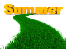 Road to summer Stock Photography