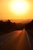 Road to the summer sunset Royalty Free Stock Photography