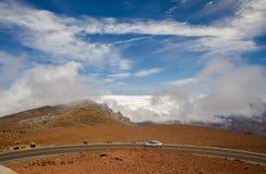 Road to the summit of haleakala Stock Photography