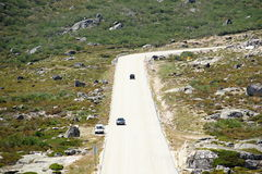 Road to the summit of the highest point of Portugal - Torre (1993 m) Stock Images