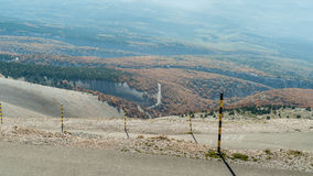 The road to the summit of Mont Ventoux  in The Provence, Souther Stock Image
