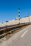 The road to the summit of Mont Ventoux  in The Provence, Souther Stock Images