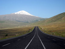 The road to the peak of Mount Ararat. Royalty Free Stock Photo