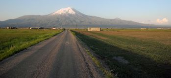 The road to the summit of Mount Ararat Royalty Free Stock Photo