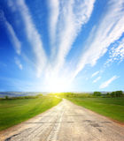 Road to sun royalty free stock photos