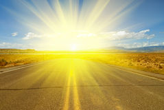 Road to sun Royalty Free Stock Photo