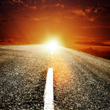 Road to the sun Royalty Free Stock Image