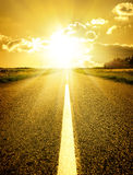 Road to sun Stock Photography