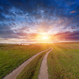 Road to sunset Stock Photography