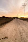 The road to sunset. Royalty Free Stock Photo